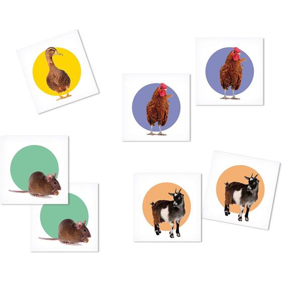 Memo Animali della Fattoria 18076 Clementoni - 1
