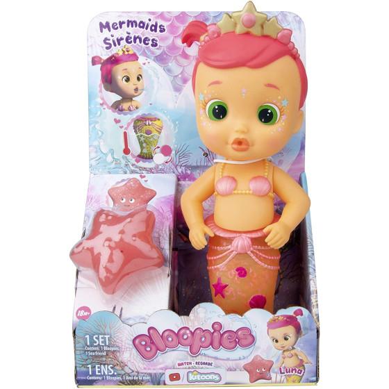 Bloopies Sirena Mermaid Bambola da Bagnetto Luna Imc Toys - 3