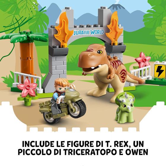 Lego Duplo 10939 Jurassic World Fuga del T Rex e Triceratopo Lego - 1