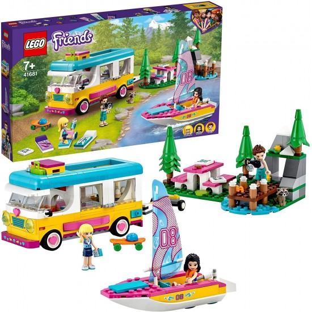 Lego Friends 41681 Camper e Barca a Vela nel Bosco Lego - 1