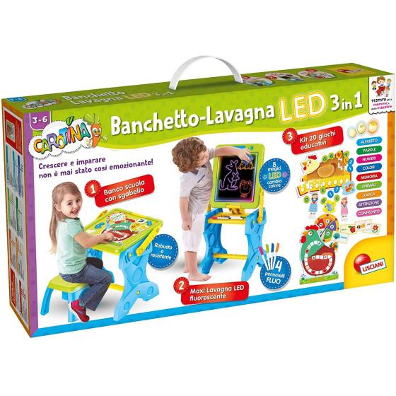 Carotina Banchetto-Lavagna LED 3 in 1 Lisciani - 5