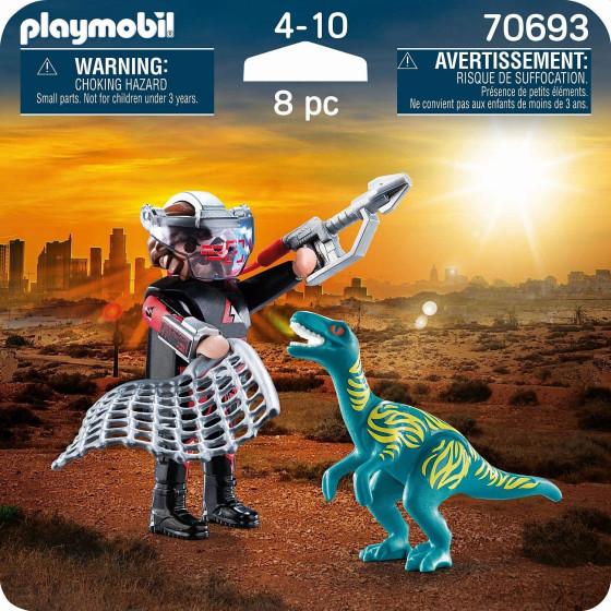 Playmobil Dinos 70693 Velociraptor e Cacciatore Playmobil - 2