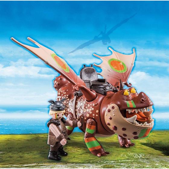 Playmobil Dragons Dragon Racing 70729 Gambedipesce e Muscolone Playmobil - 5