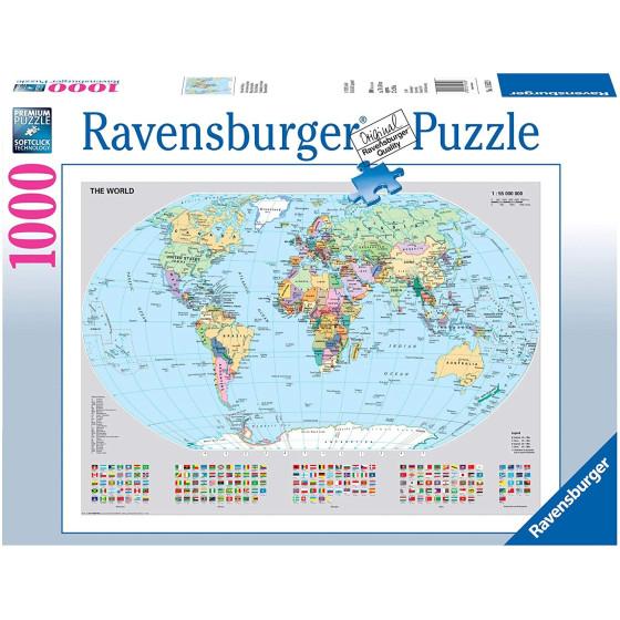 Puzzle MappaMondo Politico Ravensburger Ravensburger - 3